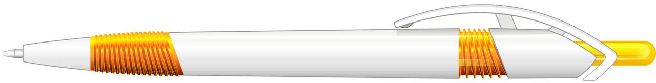 Ручка пластиковая VIVA PENS Arte Rubber бело-желтая