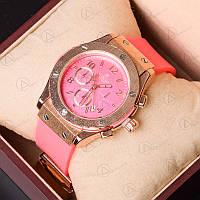 Часы женские кварцевые Hublot 3920LG-pink-p