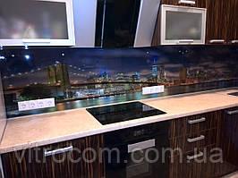 Кухонний скляний фартух місто 1