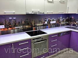 Кухонний скляний фартух місто 2