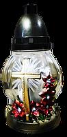 Лампада Крестик с цветочками 24П-20