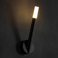 Светодиодное бра IP 44, анодированный черный, рассеиватель - акрил CREE LED 3W / WW CRI -85, 170lm , фото 1