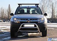 Renault Duster 2008+ гг. Кенгурятник WT022 (нерж)