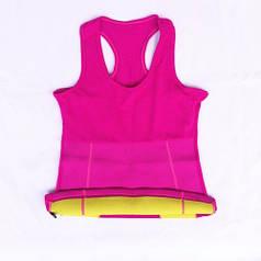Майка для фитнеса (похудения) HOT SHAPERS малиновый FI-4818-P (р XL)