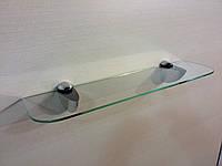 Полка 4 мм стеклянная прозрачная 50х10 см