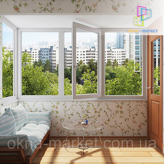 Остекление балкона в чешском проекте Киеве