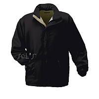 Мужская куртка на флисе aspen от Sols, цвет чёрный с серым, размер М