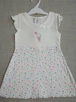 Платье для новорожденных  0-18 мес. хлопок С+3 Слоновая кость, 62