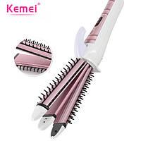 Утюжок для волос профессиональный 3в1 Kemei KM-6861