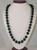 Бусы из малахита пресованного, шар (14мм) 58см, фото 1