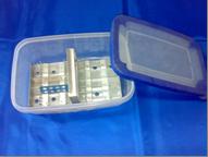 Штатив для предметных стекол 60 шт, с ёмкостью для реактивов