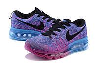Женские кроссовки Nike Flyknit Max violet-blue