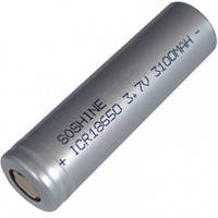 Аккумулятор литиевый Li-Ion 18650 Soshine 3.7V (3100mAh), незащищенный