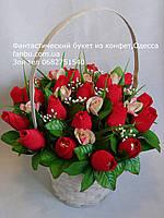 """Букет конфетных бутонов роз""""Эмоции""""№21-красные"""