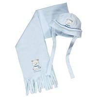 Головные уборы деми шапка с мишкой и шарф мал. голубой 100%полиестер 133bbld001 BRUMS, Италия 1(р)