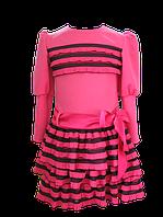 Нарядное платье для девочки из французского трикотажа. 110, 116, 122, 128