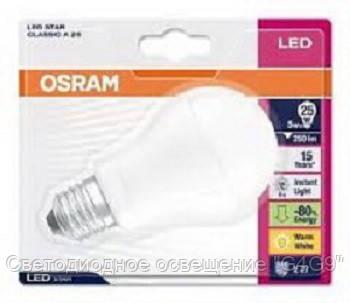Led лампа Osram PARA Classic A25 3.2W/827