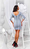 Облегающее короткое платье с вырезом на спине., фото 1