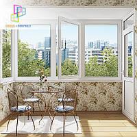 Остекление балкона чешка цена с установкой в Киеве