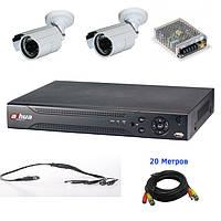 Комплект видеонаблюдения на 2 уличных камеры