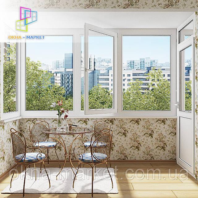 Остекление балкона в чешском проекте от