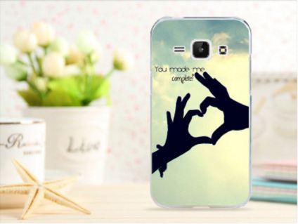Чехол для Samsung Galaxy J1/ J100 панель накладка с рисунком сердце