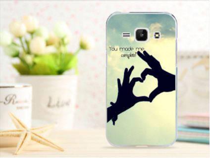 Чехол для Samsung Galaxy J1/ J100 панель накладка с рисунком сердце, фото 2