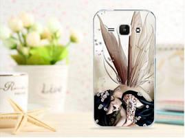 Чехол для Samsung Galaxy J1/ J100 панель накладка с рисунком любовь кота и рыбки, фото 3