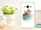 Чехол для Samsung Galaxy J1/ J100 панель накладка с рисунком сердце, фото 8