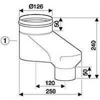 Дымоходы для  двухтрубной системы диаметром 80/80 мм AZ 406
