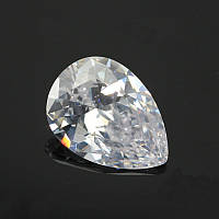 Фианит(кубический циркон).Цвет Crystal . форма Капля 10х14мм.Цена 1шт
