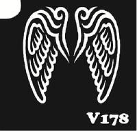 Трафарет № 178 - V - крылья ангела