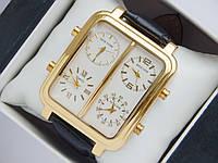 Мужские кварцевые наручные часы IceLink на кожаном ремешке со всеми работающими (активными) циферблатами