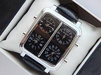 Мужские кварцевые наручные часы IceLink на кожаном ремешке со всеми работающими (активными) циферблатами, фото 1