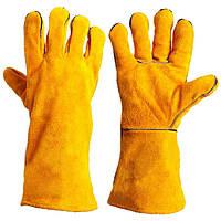 Перчатки - краги сварочные, желтые (4507) ТМ DOLONI / Украина