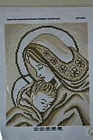 Мария с младенцем золото А4