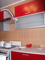 Кухня МДФ краска с барной стойкой
