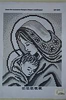 """Схема для вышивки бисером """" Мария с младенцем"""" срибло"""