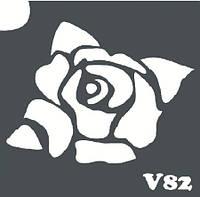 Трафарет № 082 - V - роза