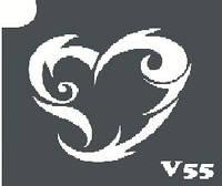 Трафарет № 055 - V - сердце