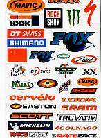Наклейки с логотипами велосипедных торговых марок I MAVIC KONA