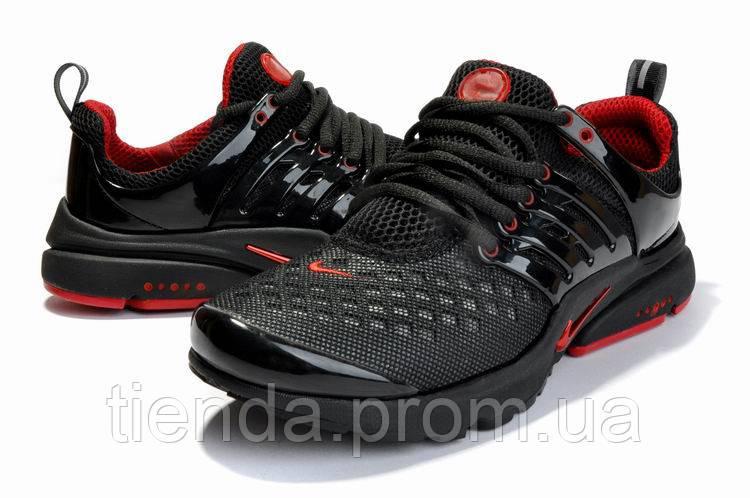 Мужские Кроссовки Nike Air Presto Black Red -