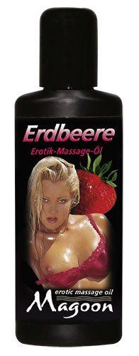 Масло для эротического массажа MAGGON Erdbeere 100 мл