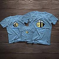 Футболки для всієї родини у стилі фемілі лук «Бджілки що люблять свою сім'ю»