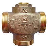 Трехходовой клапан HERZ Teplomix DN 25 с неотключаемым байпасом