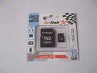 Micro SDHC карта памяти HI-RALI 16GB Сlass 10 (с адаптером SD)