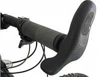 Эргономичные прорезиненные велосипедные рожки на руль, Tranz-x - JD-861A