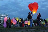 Небесные  фонарики - сердца