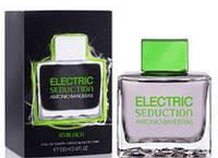 Antonio Banderas Electrik Seduction Black Men 100 мл туалетна вода для чоловіків (Мужская туалетная вода) (Реплика)