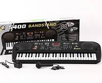 Детский синтезатор - пианино MQ-5400 от сети 220В + Микрофон. 54 клавиши